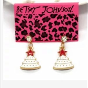 NWT Betsey Johnson Christmas Tree Earrings